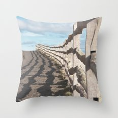 ragged wood... Throw Pillow