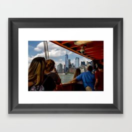 NYC from The Ferry Framed Art Print