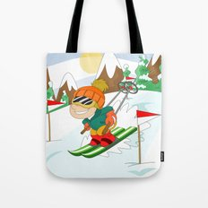 Winter Sports: Skiing Tote Bag