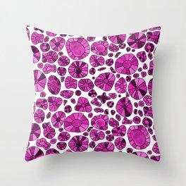 Barca Dots Pattern pink Throw Pillow