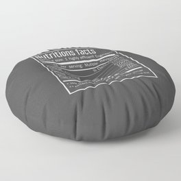 Engineer Funny Nutrition Facts Floor Pillow