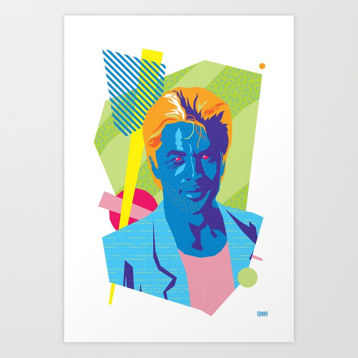 SONNY :: Memphis Design :: Miami Vice Series Art Print