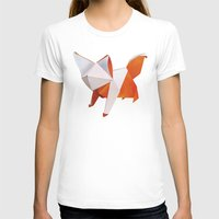 origami T-shirts featuring Origami Fox by dellydel