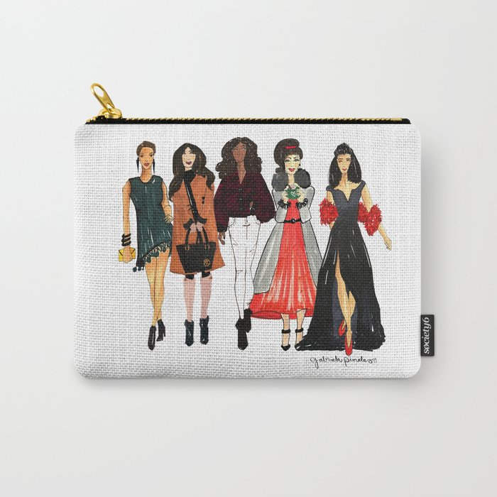 Glam Girls, Pinales Illustrated Carry-All Pouch