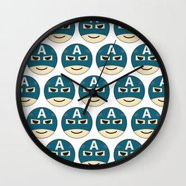 Captian A Emoji Wall Clock