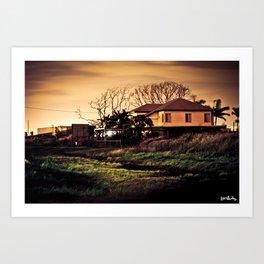 Myrtle Town At Midnight Art Print