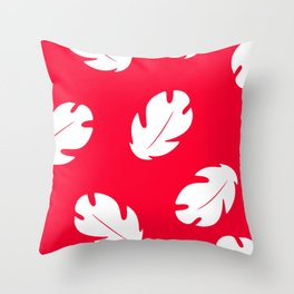 Lilo Hawaiian Floral Leaves Throw Pillow