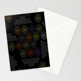 stitches in black Stationery Cards