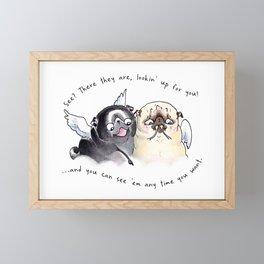 Angel Pugs Framed Mini Art Print