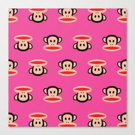 Julius Monkey Pattern by Paul Frank - Pink Canvas Print