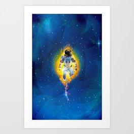 Lost Astronaut Art Print