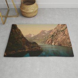 """Lofoten Trollfjord Norway"" Rug"