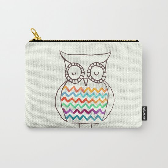 Chevron Owl Carry-All Pouch