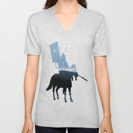 Morning Over The Invisible Lake Unisex V-Neck