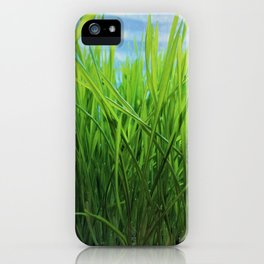 Wheat Grass in Motion iPhone Case