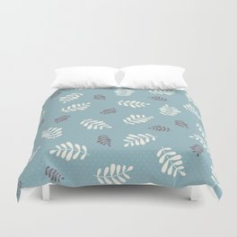 Falling Leaves – Blue Duvet Cover