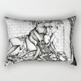 Lovers in the ruins Rectangular Pillow