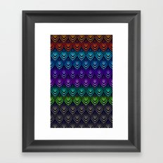Variations on a Feather I - Deco Style Framed Art Print