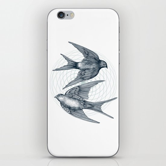 Two Swallows iPhone & iPod Skin