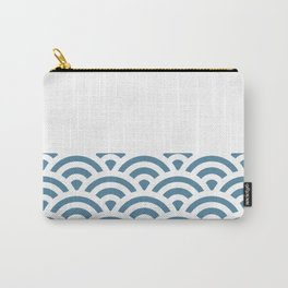 Rainbow Trim Pastel Blue Carry-All Pouch