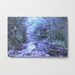 River Blue Metal Print