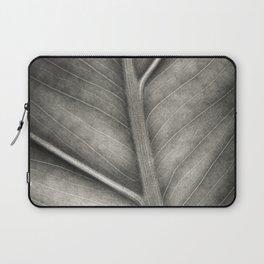 Macro photo of leaf. Black & white. Laptop Sleeve