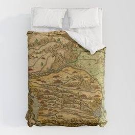 Map Of The Congo 1597 Comforters