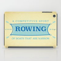 sport iPad Cases featuring A Competitive Sport. by Rabassa