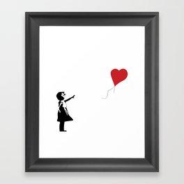 Banksy Girl with Heart Balloon Framed Art Print