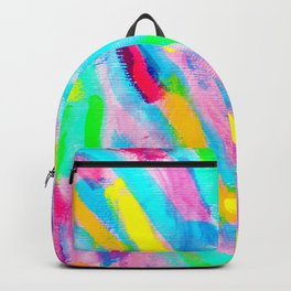 Uniqueness Blooms colorful abstract painting pink modern Backpack