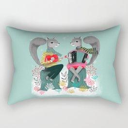 Squirrels' Christmas by Andrea Lauren  Rectangular Pillow