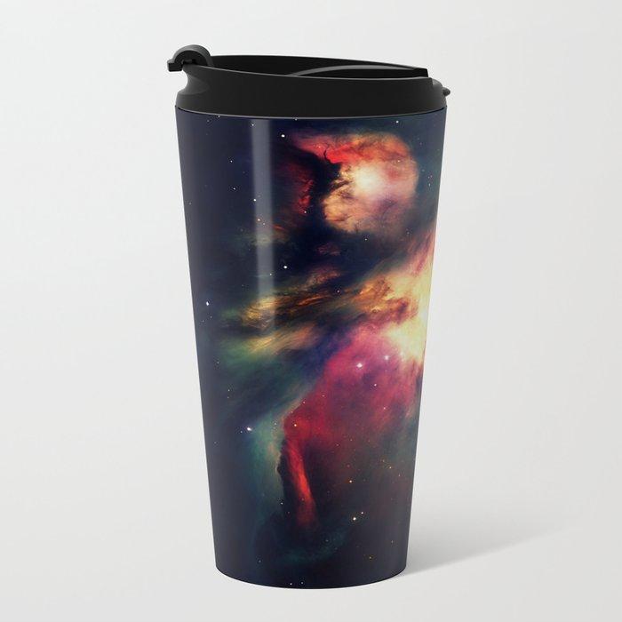 Orion NEbula Dark & Colorful : Hauntingly Beautiful Series Metal Travel Mug