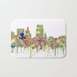 Boise, Idaho Skyline SG - Faded Glory Bath Mat