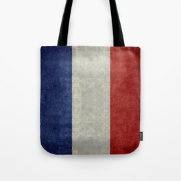 Flag of France, vintage retro style Tote Bag