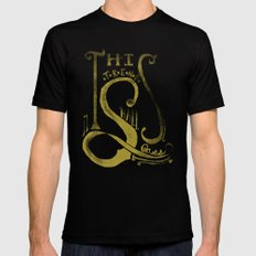 This Trend Shall Pass Black Mens Fitted Tee MEDIUM