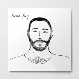 Beard Boy Classic: Jose Metal Print