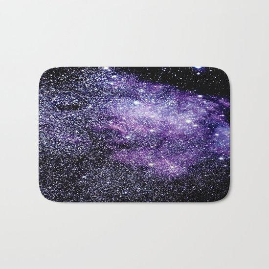 Galaxy Stars Violet Blue Bath Mat