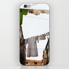 Venice Venezia Italy street clothes drying colors digital photography iPhone Skin