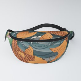 Carp Koi Fish in pond 001 Fanny Pack