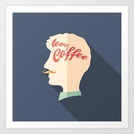 Love Coffee Head Art Print