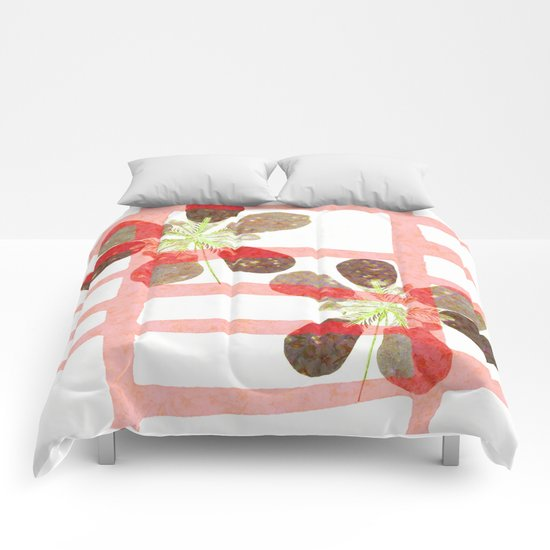 caged flowers Comforters