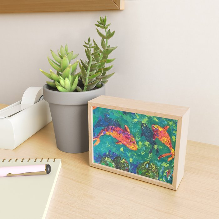 Koi Pond Framed Mini Art Print