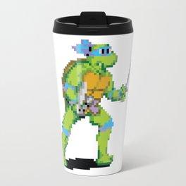 Pixelated Teenage Mutant Ninja Turtles (TMNT) - Leonardo Travel Mug