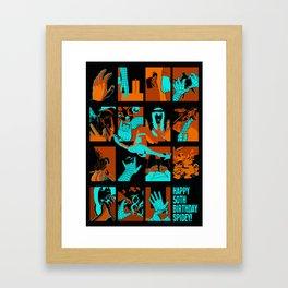 HAPPY BIRTHDAY SPIDEY! Framed Art Print