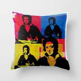 PERCY BYSSHE SHELLEY - ENGLISH POET, 4-UP POP ART COLLAGE Throw Pillow