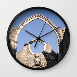 Carmo Ruins Surviving Arch Wall Clock