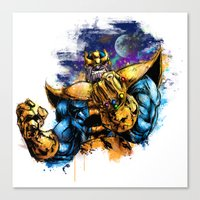 thanos Canvas Prints featuring Thanos by Vincent Vernacatola