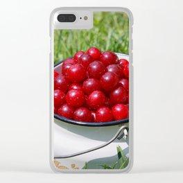 Prunus cerasus sour cherry fruits Clear iPhone Case