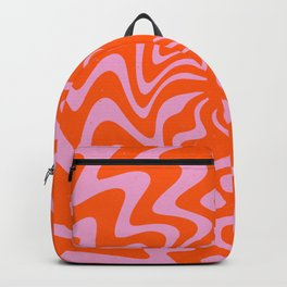 70s Retro Pink Orange Abstract Backpack