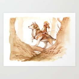 Fairy and Corgi 4 Art Print